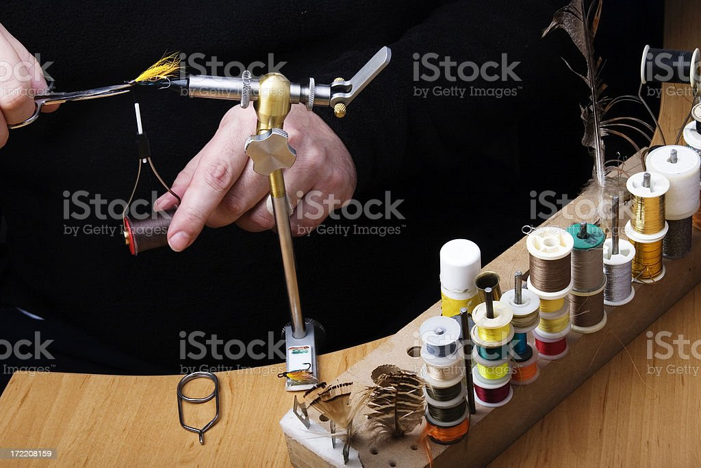 fly tying royalty-free stock photo