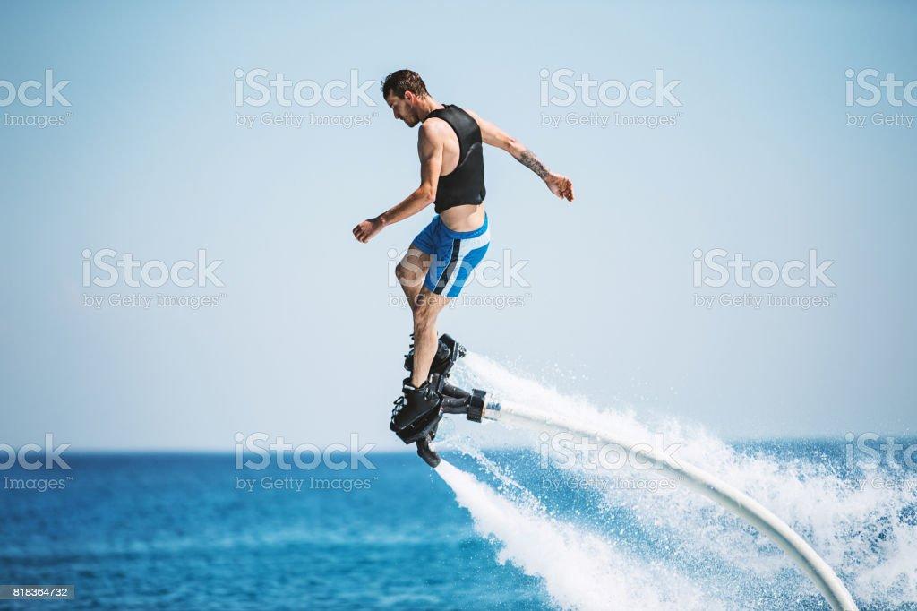 Flyboarding. stock photo