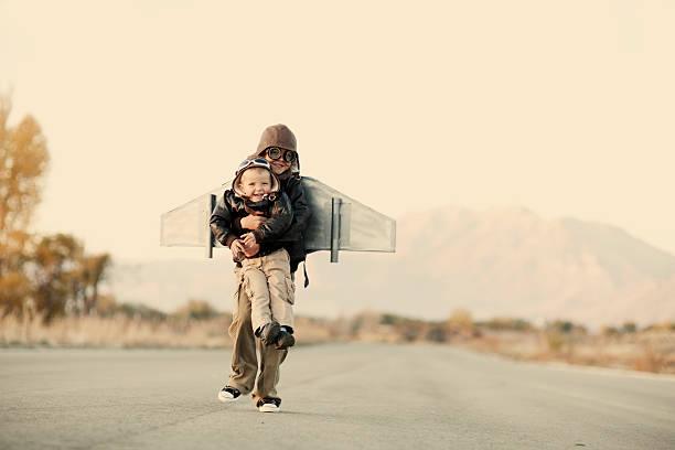 flyboys - erfinder der fotografie stock-fotos und bilder