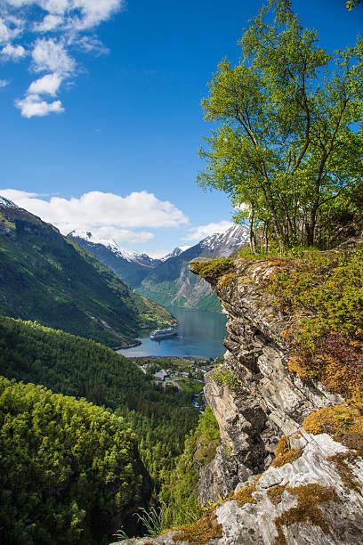 Flydalsjuvet im Geranger fjord, Norwegen – Foto