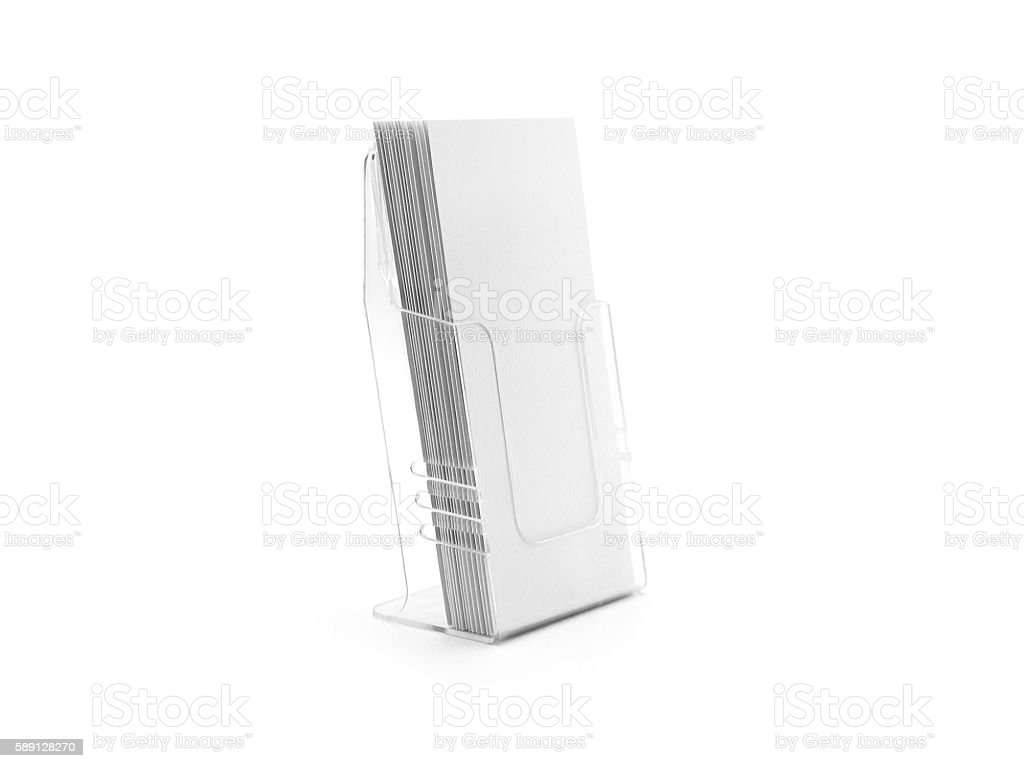 Flyer glass plastic holder. stock photo