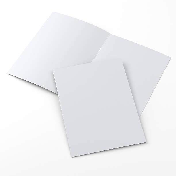 flyer o folleto de tamaño a4 sobre blanco - foto de stock