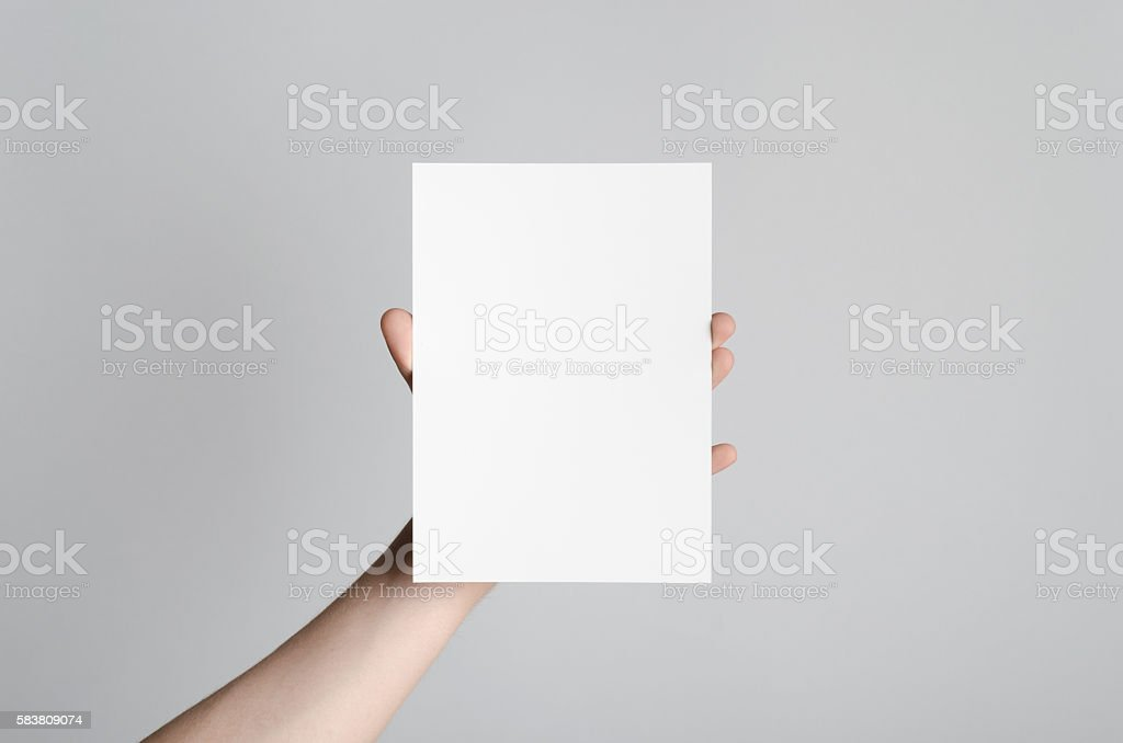 A5 Flyer / Postcard / Invitation Mock-Up stock photo