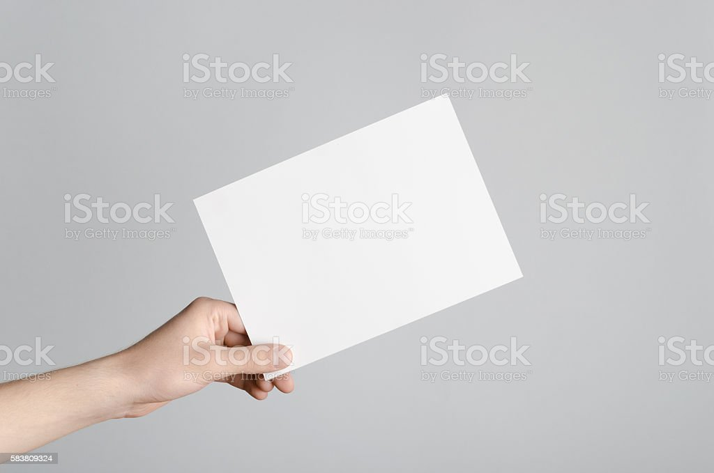 A5 Flyer / Postcard / Invitation Mock Up Stock Photo