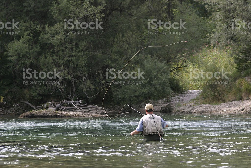 Flyfishing royalty-free stock photo