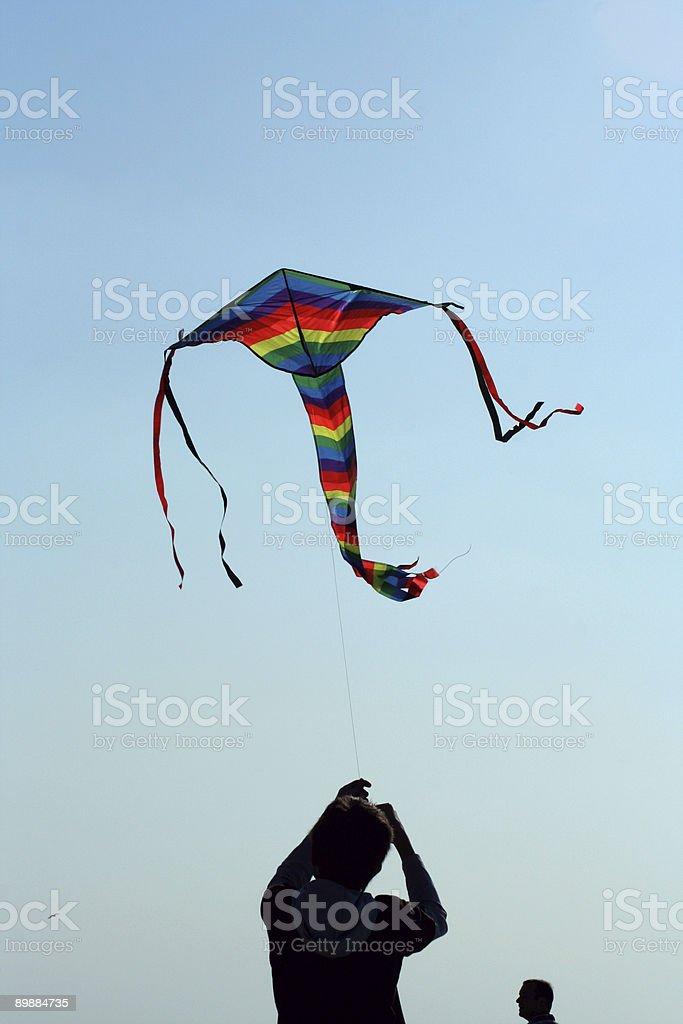 Летать с Kite Стоковые фото Стоковая фотография