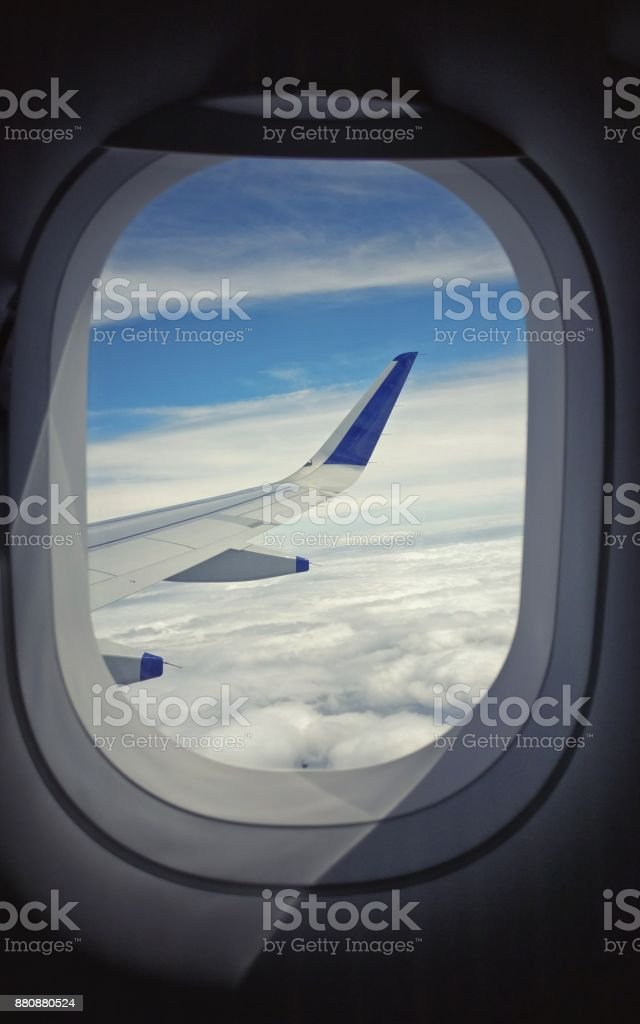 Flying above stock photo