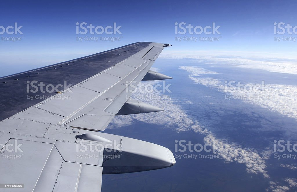 Flying above the clouds. royalty-free stock photo