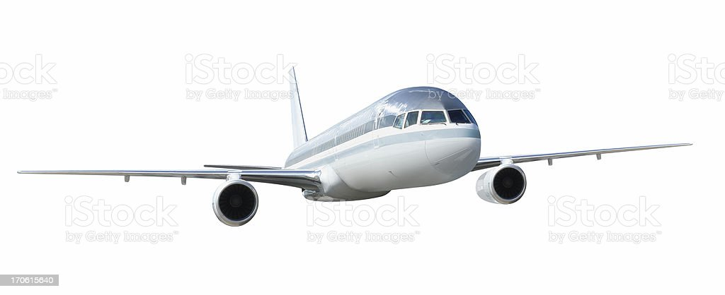 Flying Airplane royalty-free stock photo