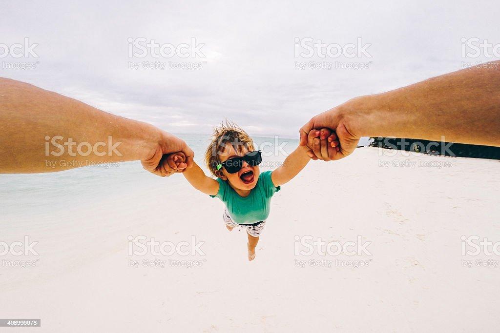 Flying around stock photo