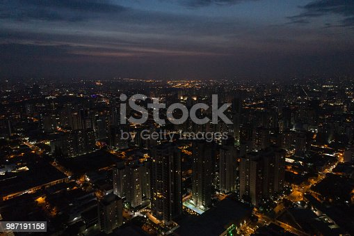 istock Flying at Sao Paulo city at night, Brazil 987191158