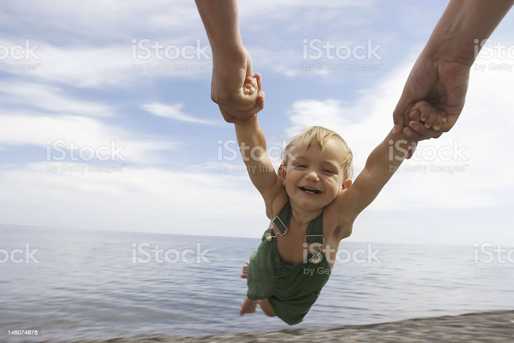 flying baby on sky background royalty-free stock photo