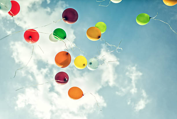 Flying Balloons stock photo