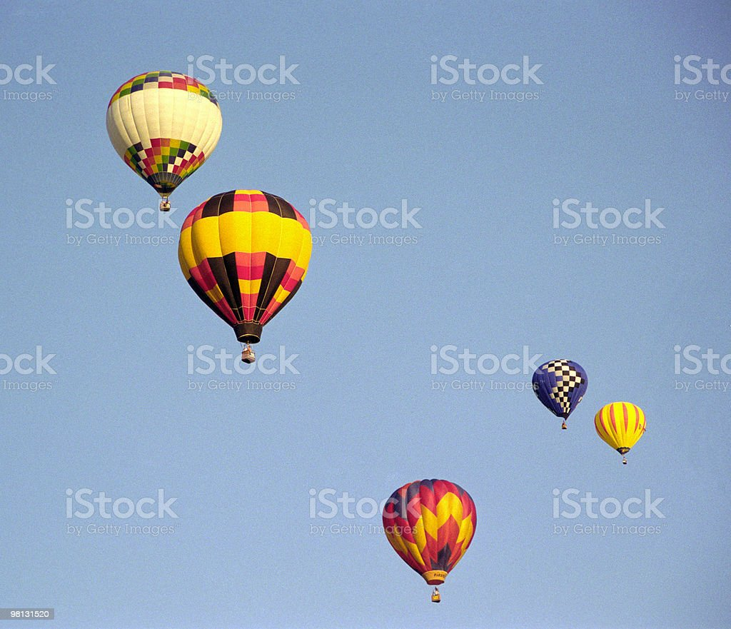 Flying balloons royalty-free stock photo