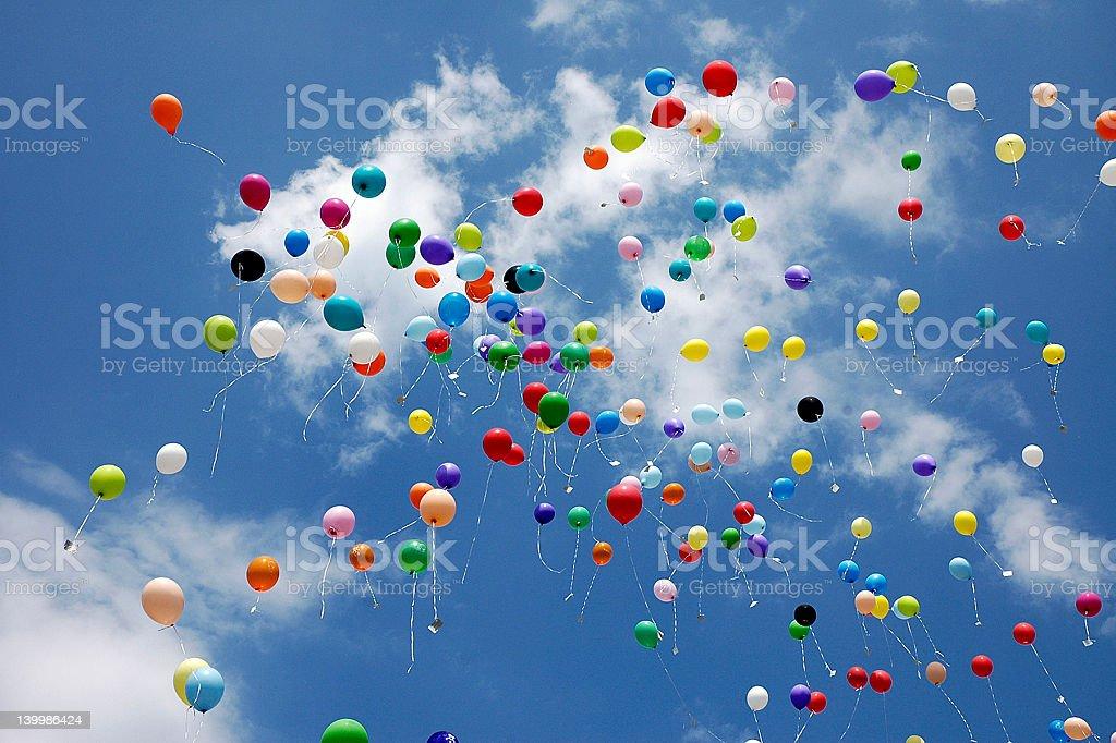 Flying Balloons - Variation royalty-free stock photo
