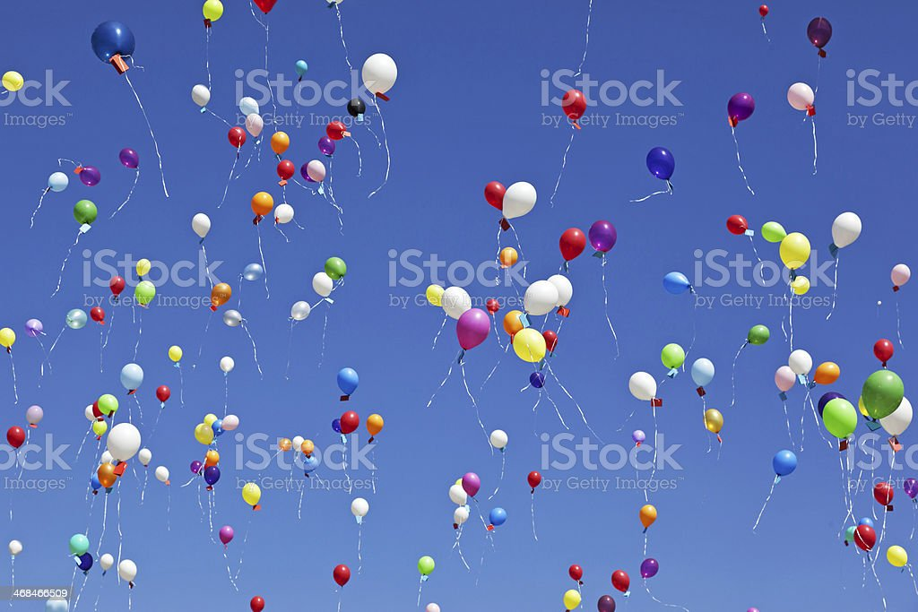 Flying balloons # 3 XXXL stock photo