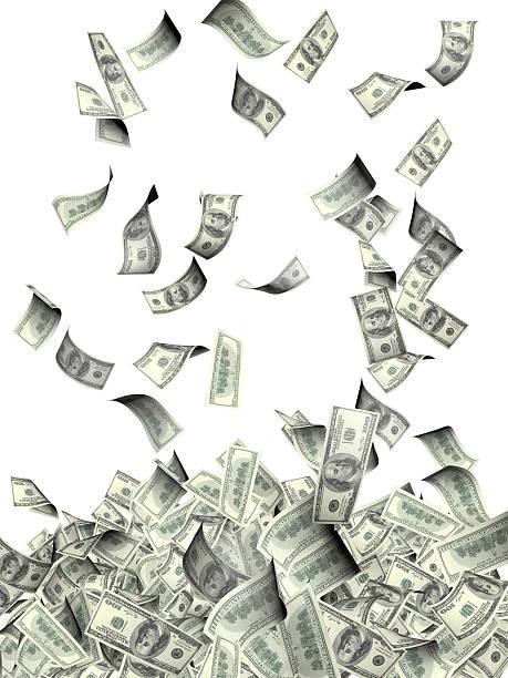 летающий банкноты долларов - dollar bill стоковые фото и изображения