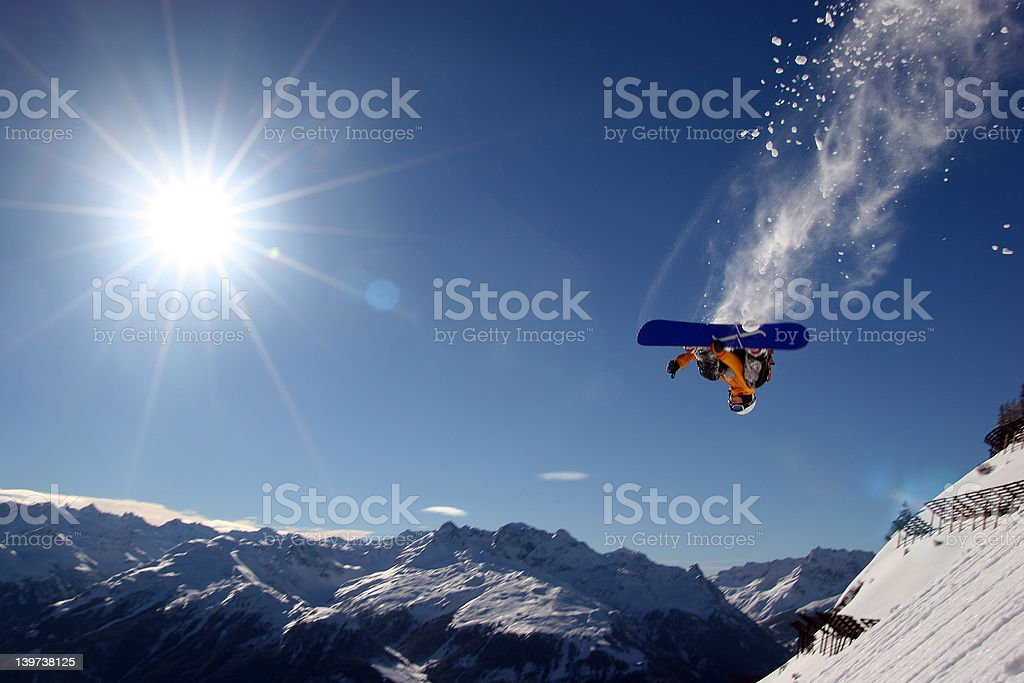 Flying Boarder royalty-free stock photo