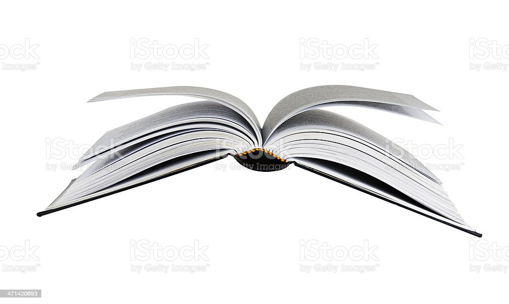Flying book stock photo