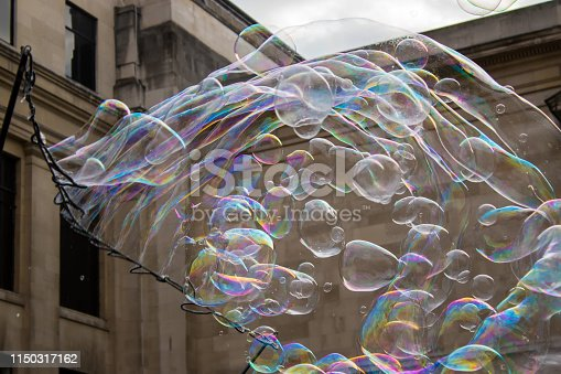 istock Flying bubbles all over 1150317162