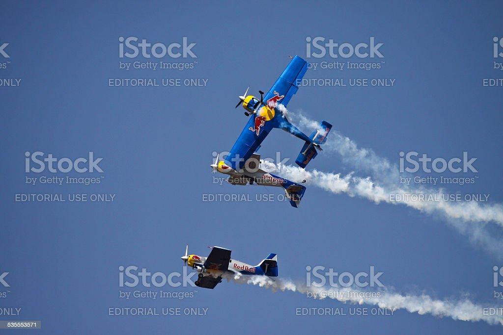 Flying Bulls Team in Aero India 2013 stock photo