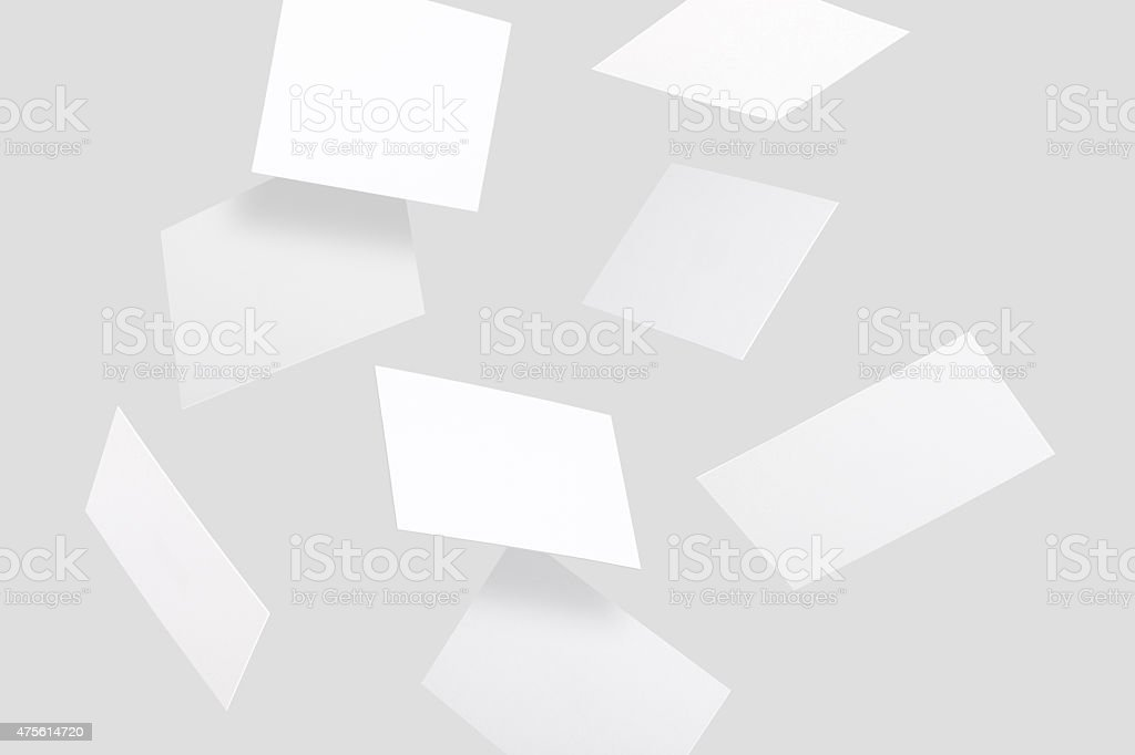 Flying business cards - Royalty-free 2015 Stok görsel