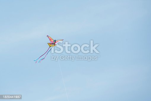 istock Flying butterfly kite 1320441937