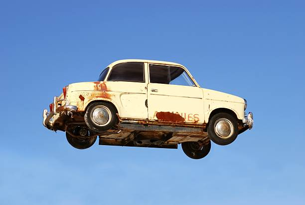 flying car stock photo