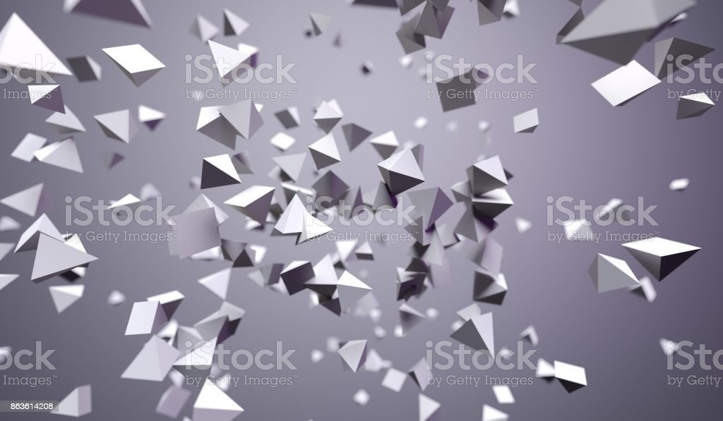 Flying Chaotic Pyramids stock photo