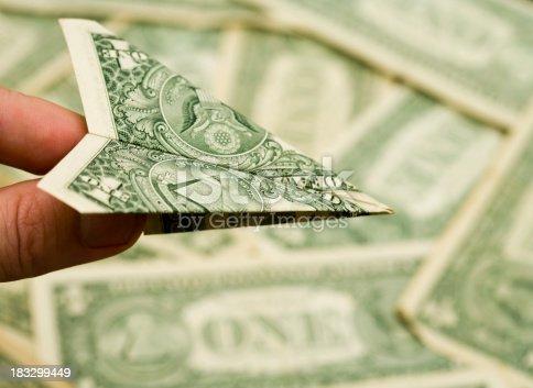 origami dollar airplane