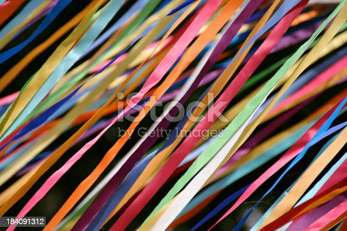 istock Flying Color Streamers—Carnival Ribbons for Graduations, Parties, Social Events 184091312