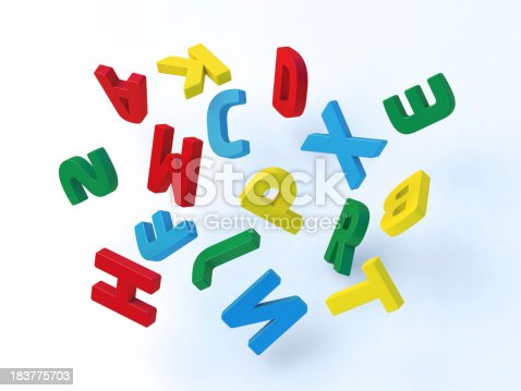176074170 istock photo Flying Colorful Letters 183775703