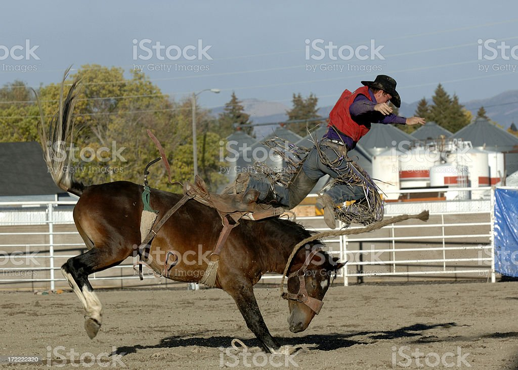 Flying Cowboy stock photo