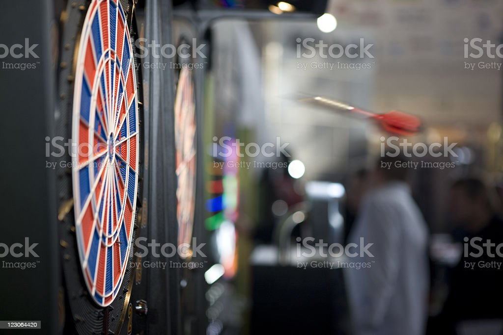 Flying dart stock photo