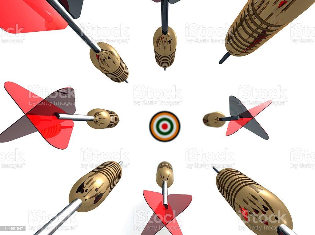 Flying Darts royalty-free stock photo