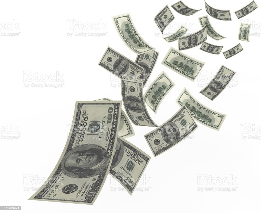 Flying Dollar stock photo