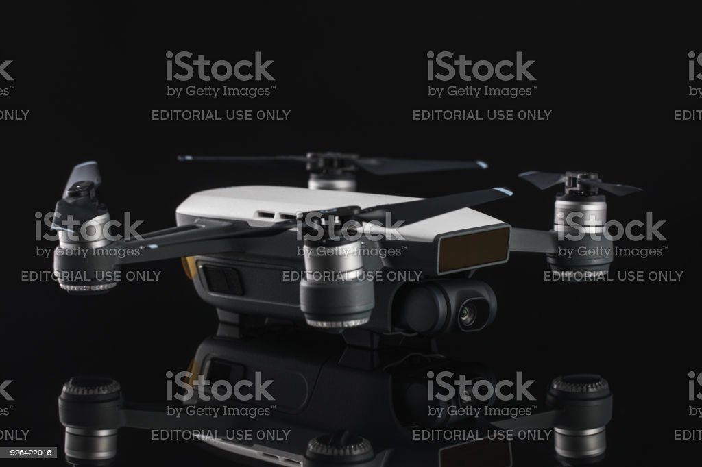 Flying drone quadcopter Dji Spark is mini drone that features all of...