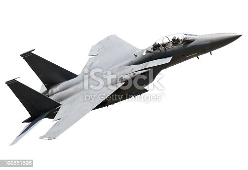 Isolated on white fighter plane