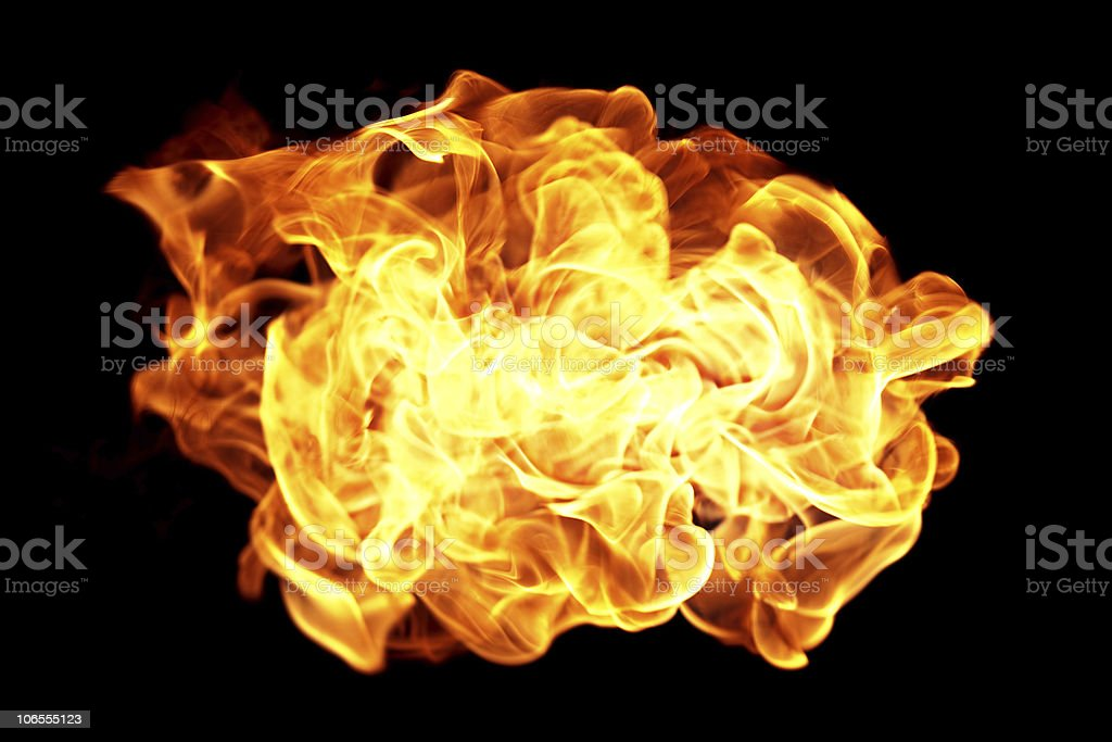 Flying fire ball royalty-free stock photo
