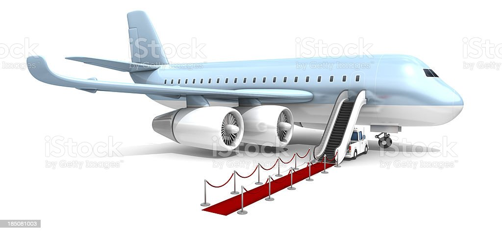 flying first class stock photo