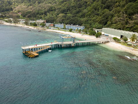 Flying Fish Cove On Christmas Island An Australian Territory In The Indian Ocean Stock Photo ...
