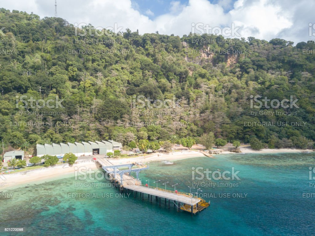 flying fish cove on christmas island an australian territory in the indian ocean royalty