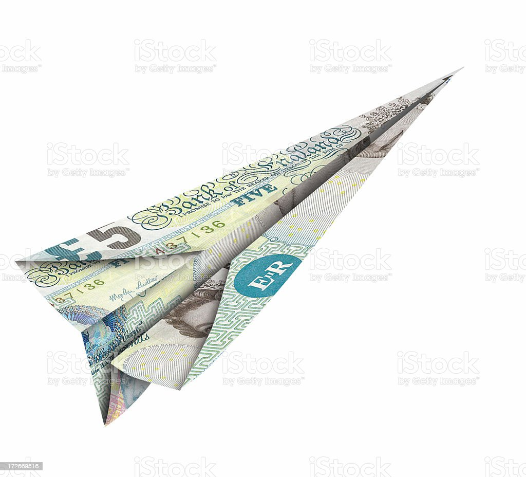 flying fiver right stock photo