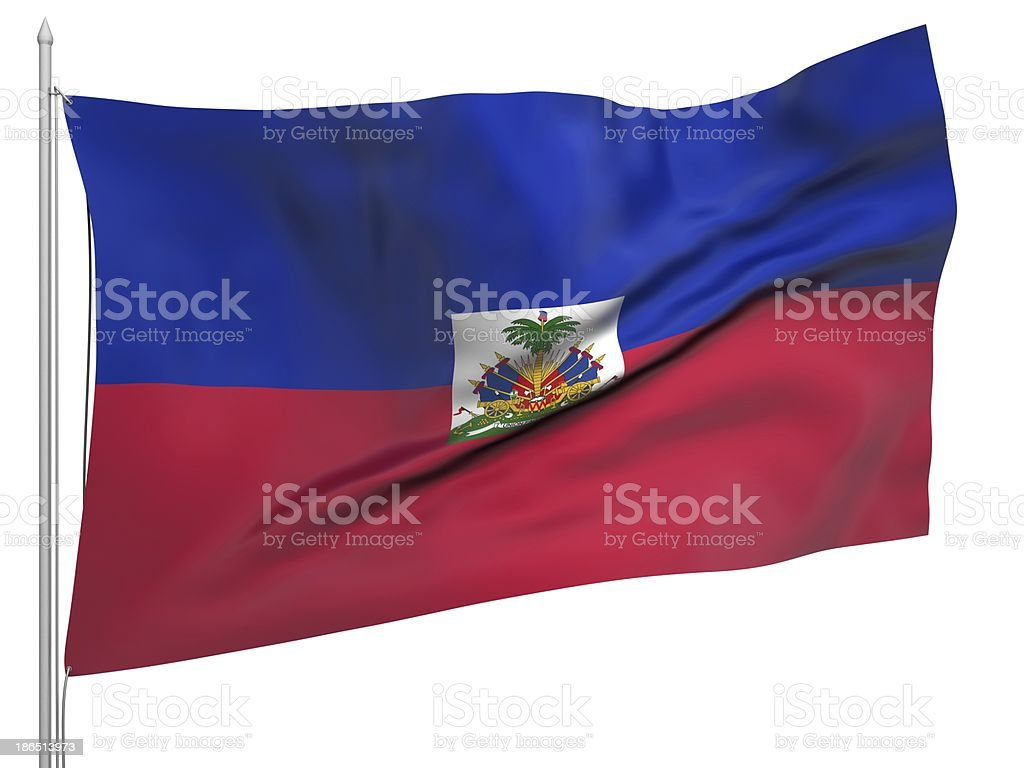 Flying Flag of Haiti - All Countries royalty-free stock photo