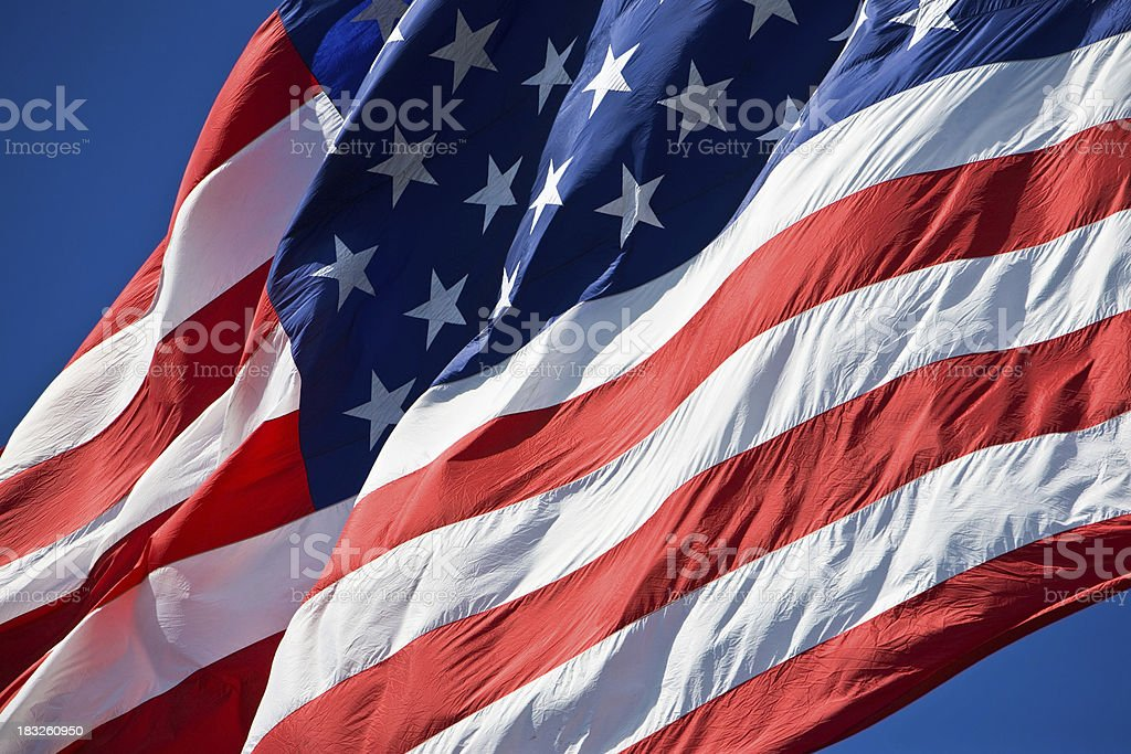 Flying Flag stock photo