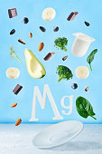 istock Flying foods rich in magnesium. Healthy eating 990569256