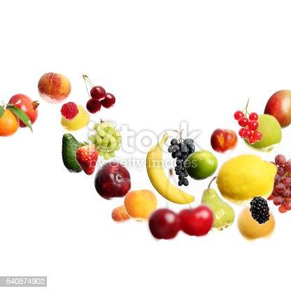 istock Flying fruits 540574902