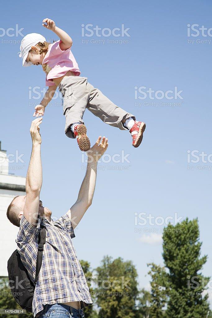 flying girl royalty-free stock photo