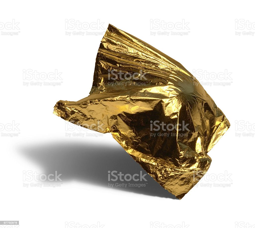 flying gold leaf royalty-free stock photo