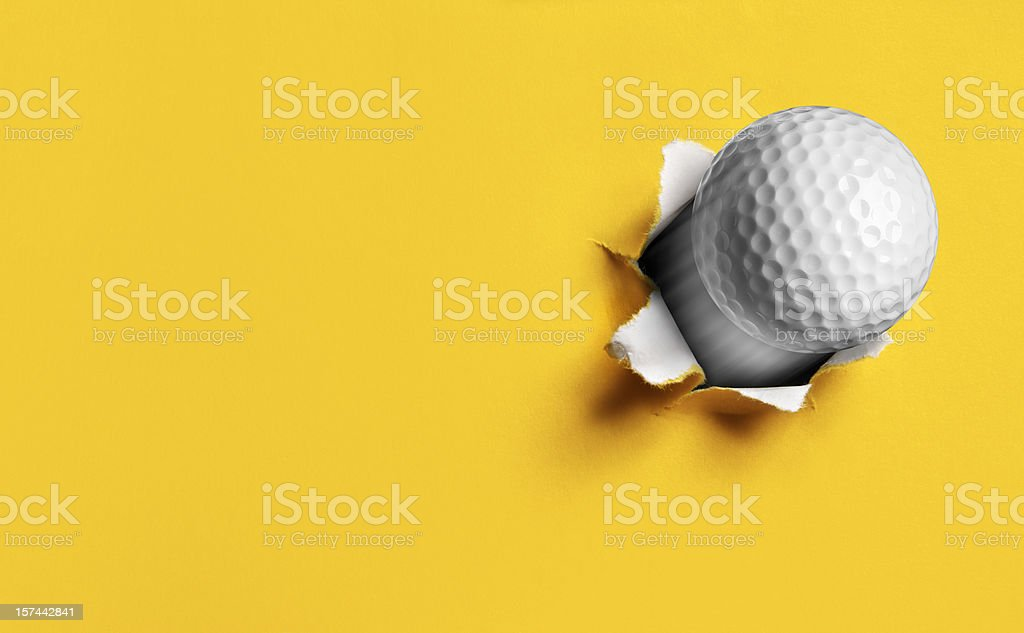 Flying Golf Ball royalty-free stock photo